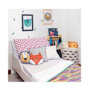 Cobertor infantil mini/berço Listras colorida 110 x 145 cm