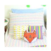 Kit lençol elástico infantil + fronha Confete color