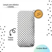 Lençol com elástico mini cama 70 x 150 cm  Confete Black