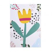 Poster colorido quarto infantil A4 Tulipa