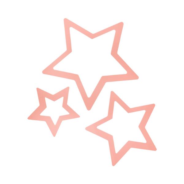 Aplique de parede decorativo estrela rosa
