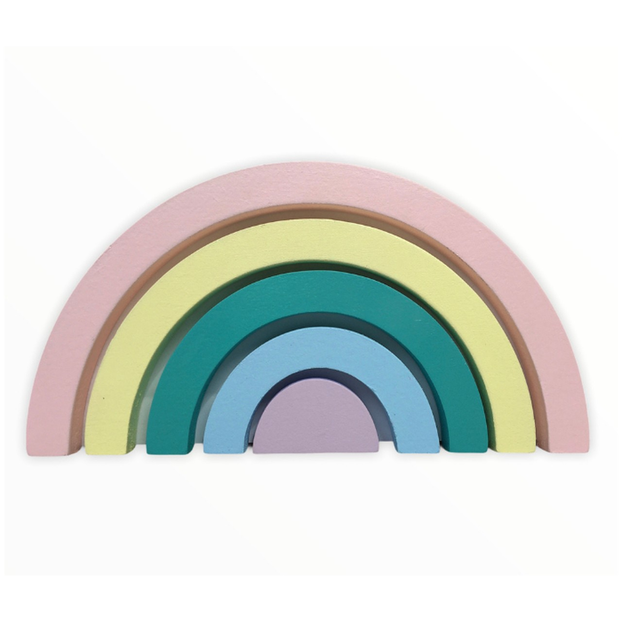 Adorno, enfeite de madeira arco íris para quarto infantil