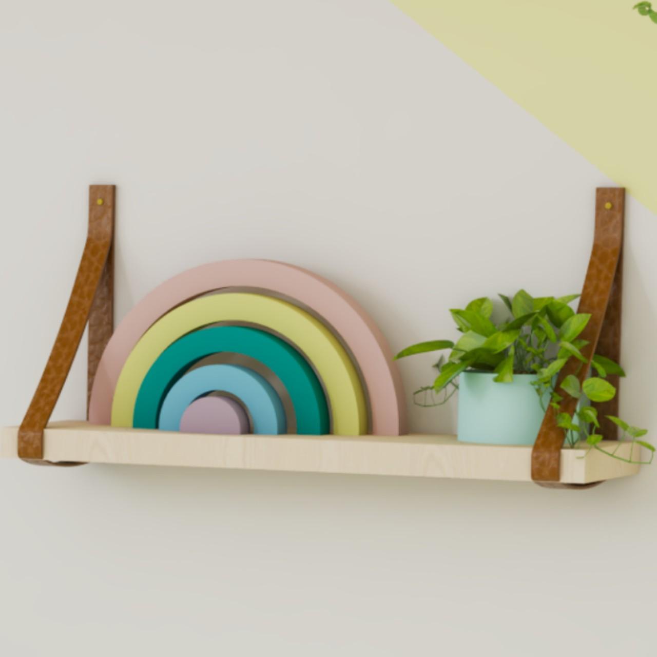 Adorno, enfeite de madeira arco íris para quarto infantil :)