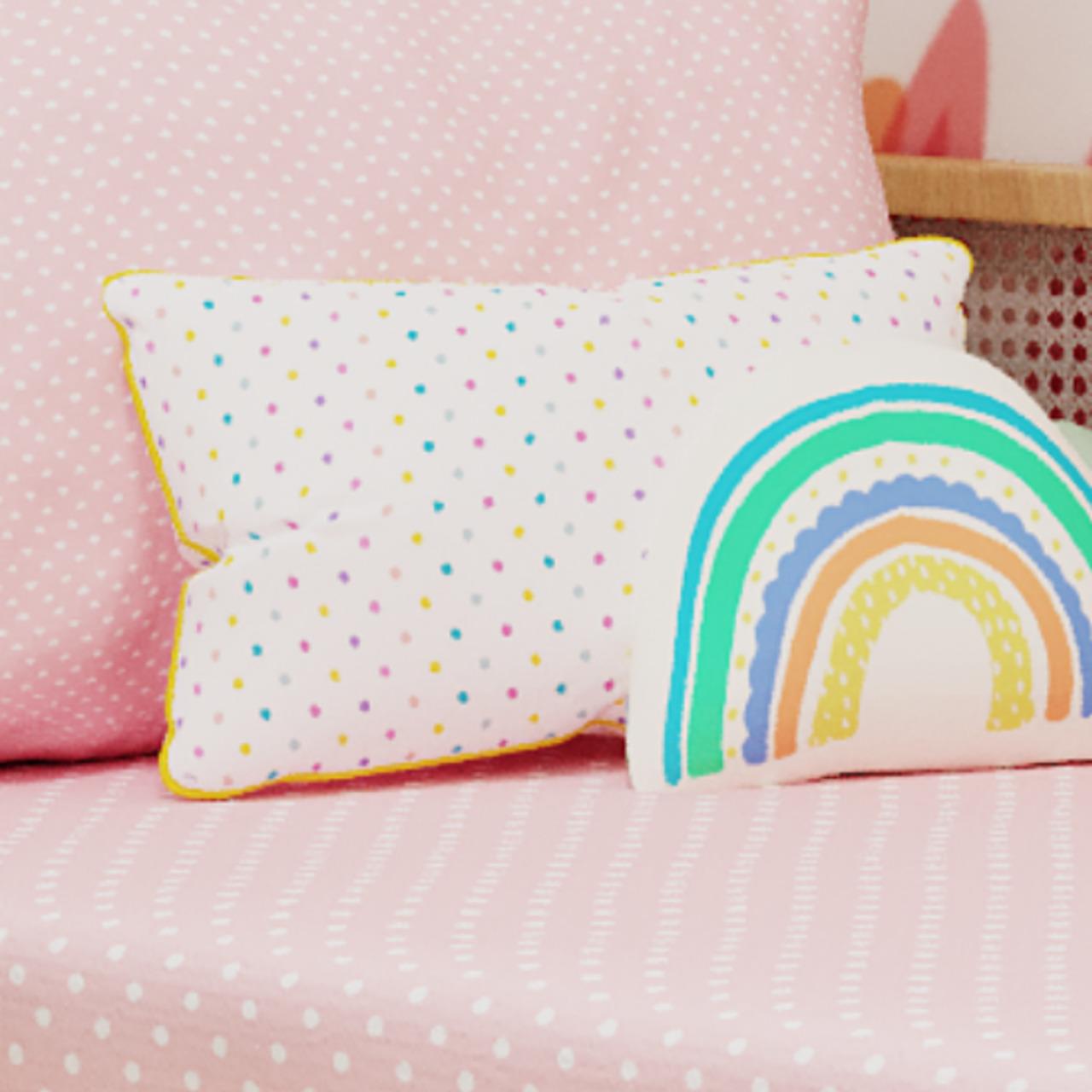 Almofada cabeceira Confete  candy 25 X 45 cm 100% algodão