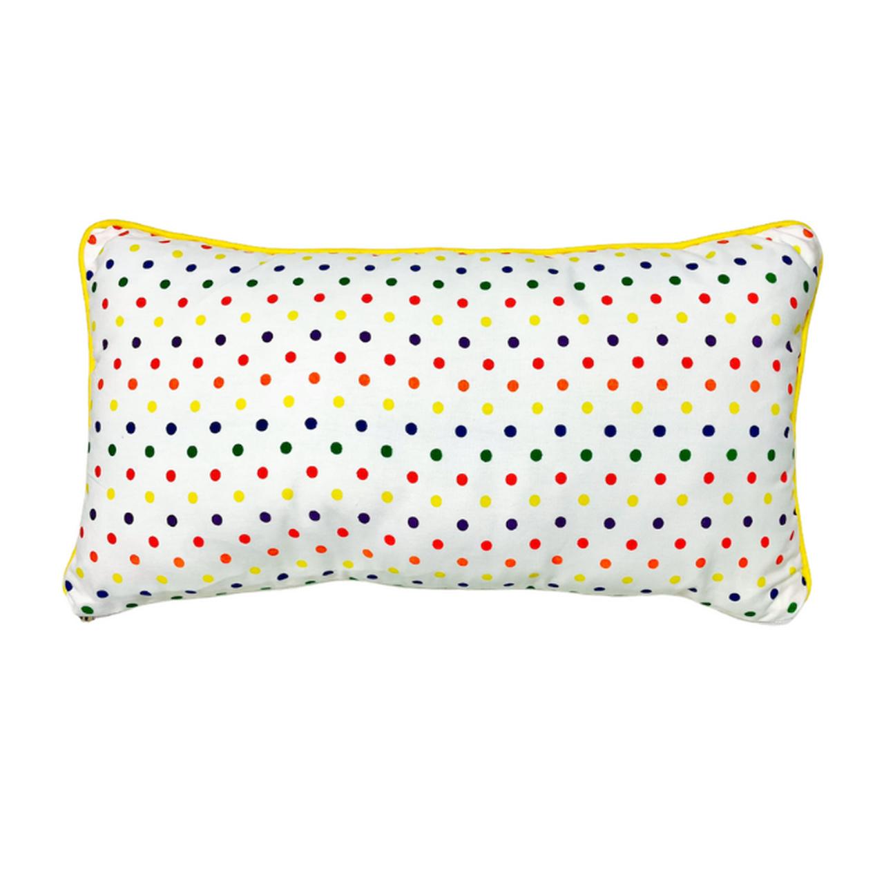 Almofada cabeceira Confete color  25 X 45 cm 100% algodão