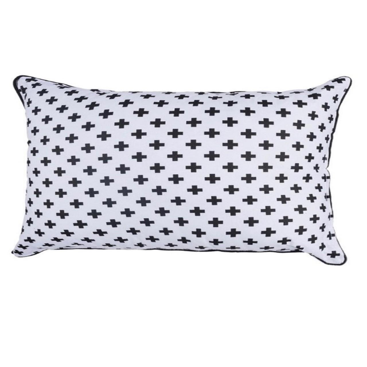 Almofada cabeceira Cruz Preta 35 X 57 cm 100% algodão