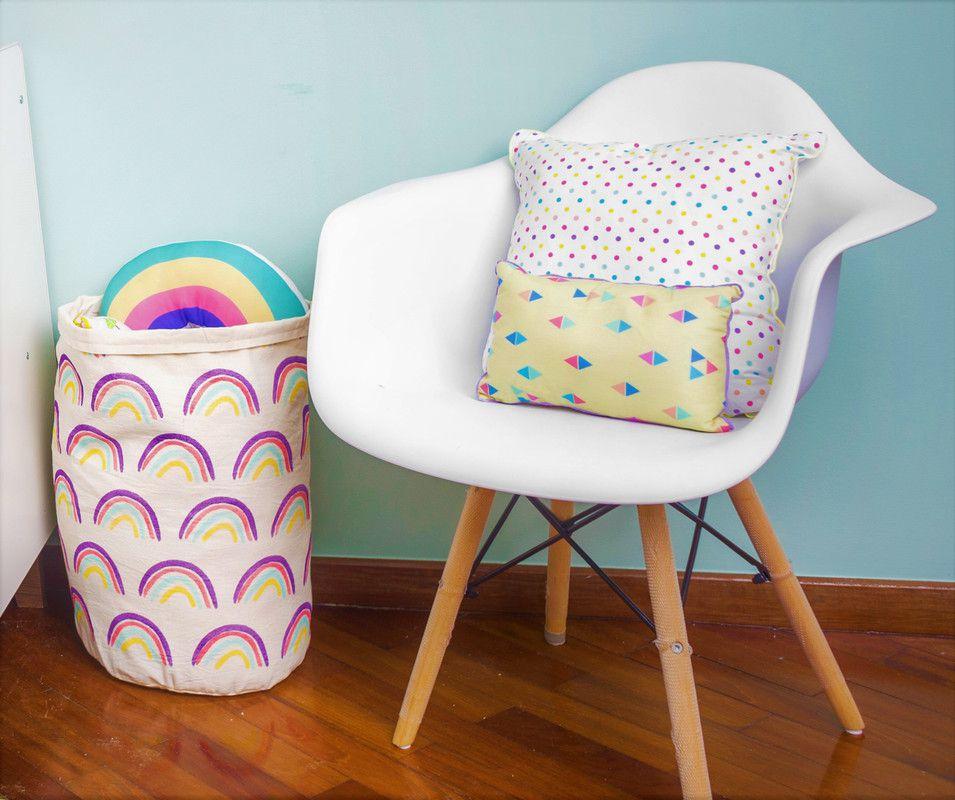 Almofada Infantil decorativa estampa Confete Candy  100% algodão  - Pomelo Decor