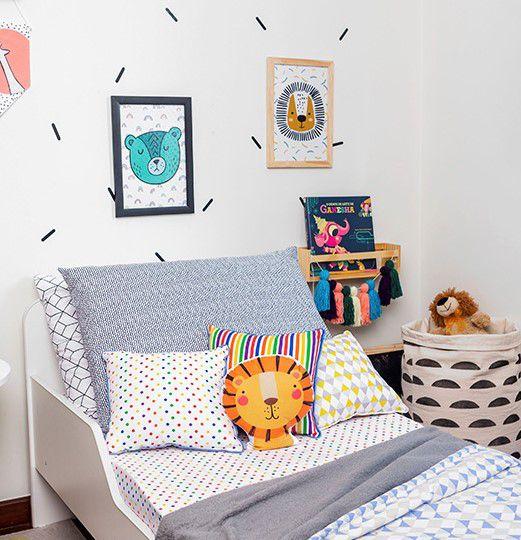 Almofada Infantil Confete Color 40 X 40 cm 100% algodão  - Pomelo Decor
