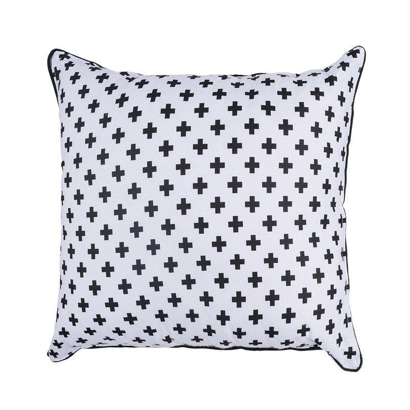 Almofada Infantil Cruz Preta 40 x 40 100% algodão