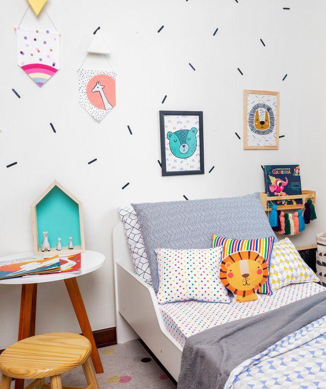 Almofada Infantil Listras Color  - Pomelo Decor