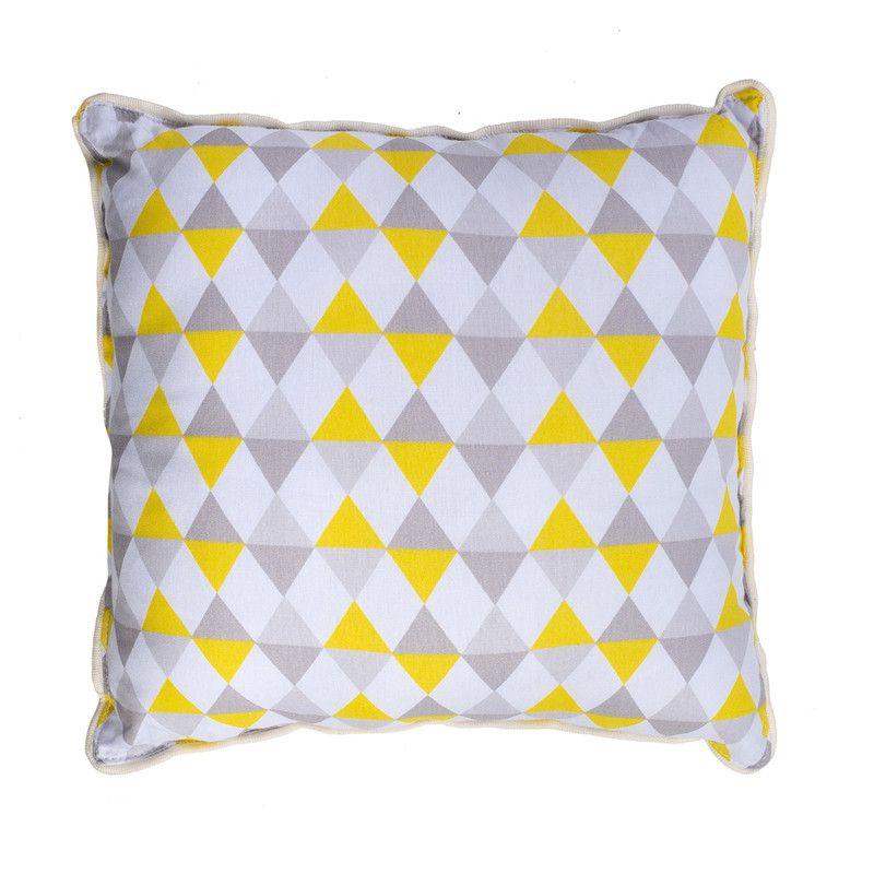 Almofada Infantil Losango Amarelo   - Pomelo Decor