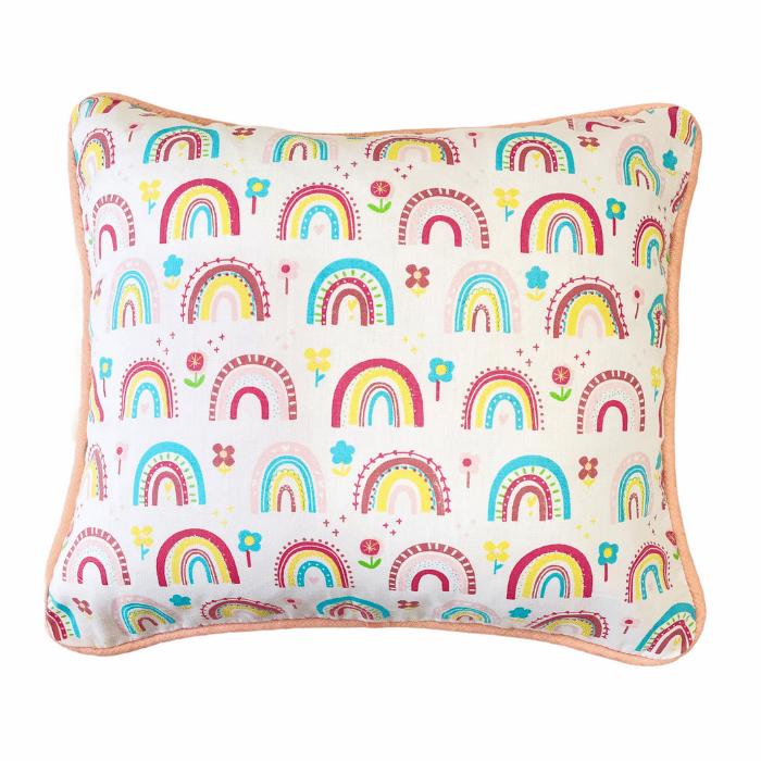 Almofada Infantil 100% algodão Arco íris candy rose