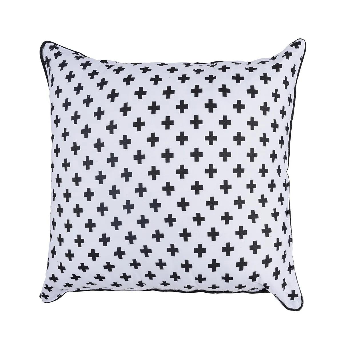 Almofada Infantil Cruz Preta 30 X 30 cm 100% algodão