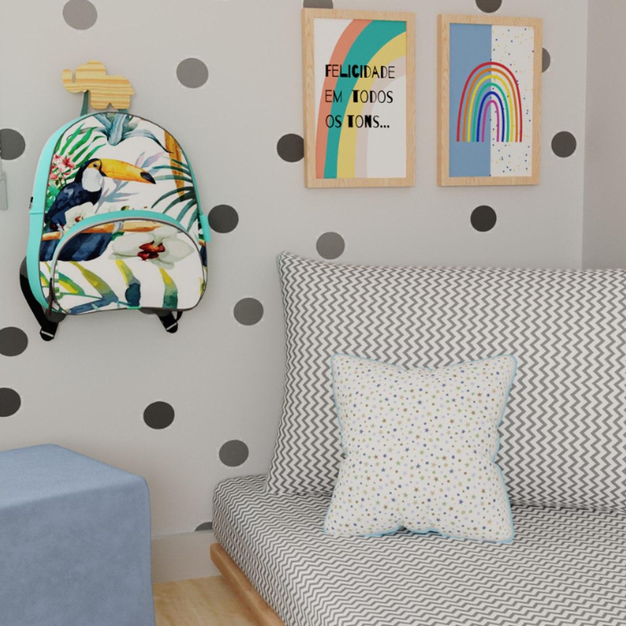 Almofada Infantil estrelinhas 30 X 30 cm 100% algodão