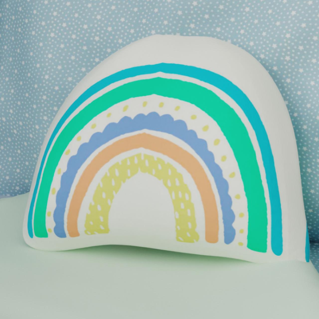 Almofada infantil toy arco íris green