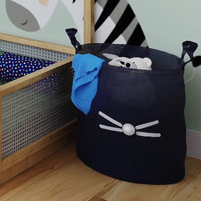 Cesto Organizador 40 x 35 cm estampa coelho marinho