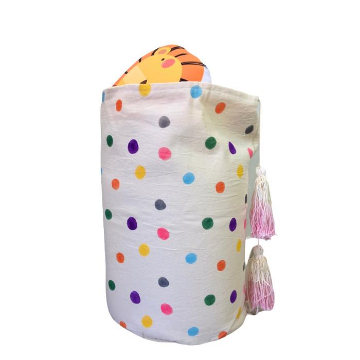 Cesto Organizador 53 x 32 cm estampa Confete colorido