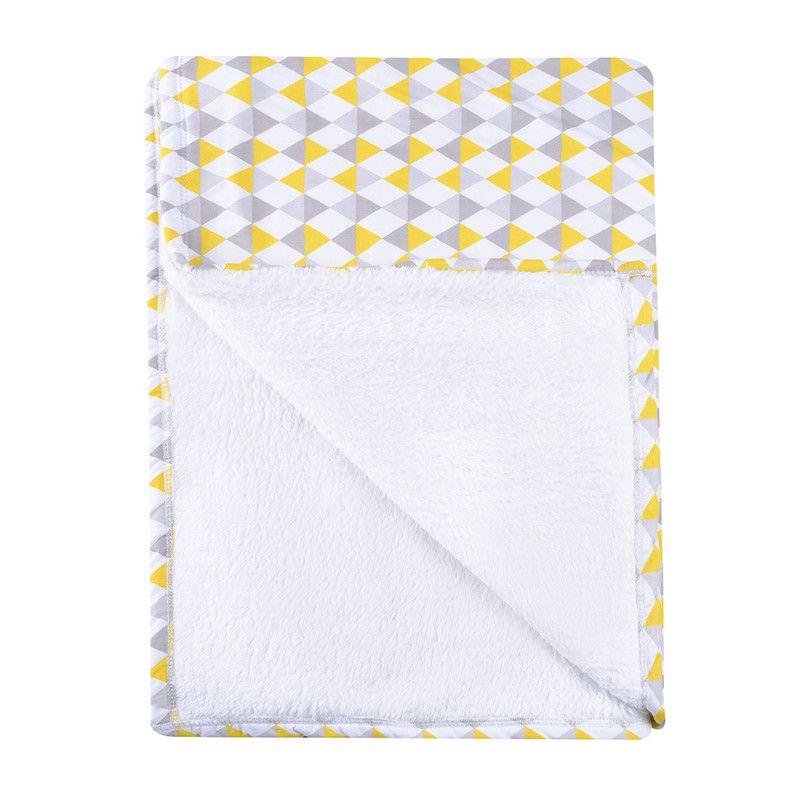 Cobertor para berço dupla face Losango Amarelo