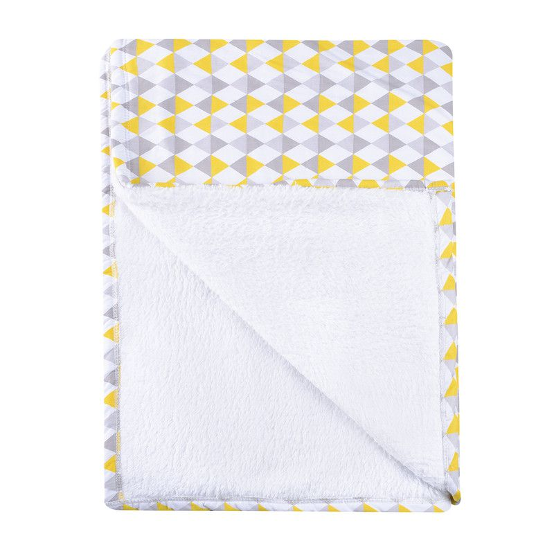Cobertor Infantil solteiro Losango Amarelo 110 x 220 cm
