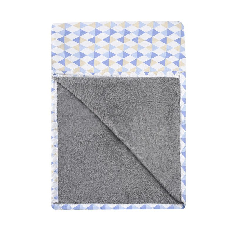 Cobertor Infantil solteiro Losango Azul 110 x 220 cm  - Pomelo Decor