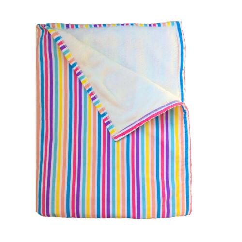 Cobertor infantil berço Listras candy 100 x 135 cm