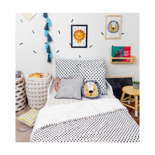 Cobertor infantil mini cama / berço Confete Black 110 x 145 cm  - Pomelo Decor