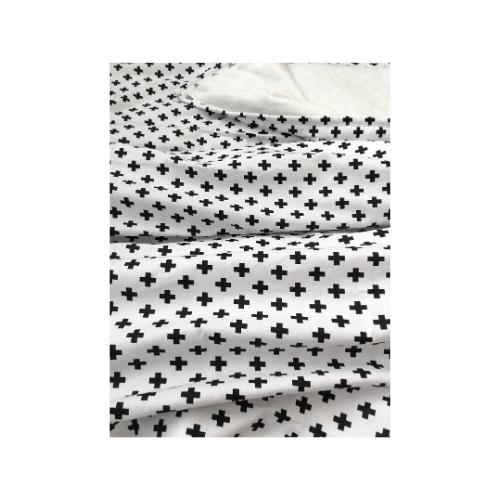Cobertor Infantil solteiro Cruz preta 110 x 220 cm  - Pomelo Decor
