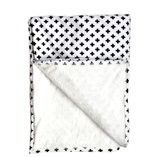 Cobertor Infantil solteiro Cruz preta 110 x 220 cm