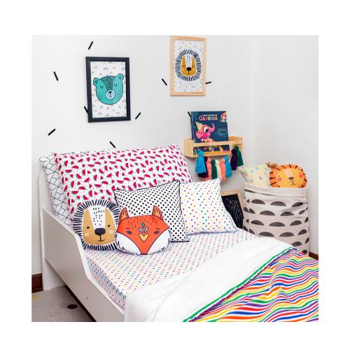 Cobertor Infantil solteiro Listras colorida 110 x 220 cm