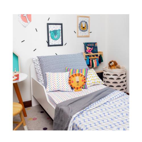 Cobertor infantil mini/berço Losango Azul 110 x 145 cm