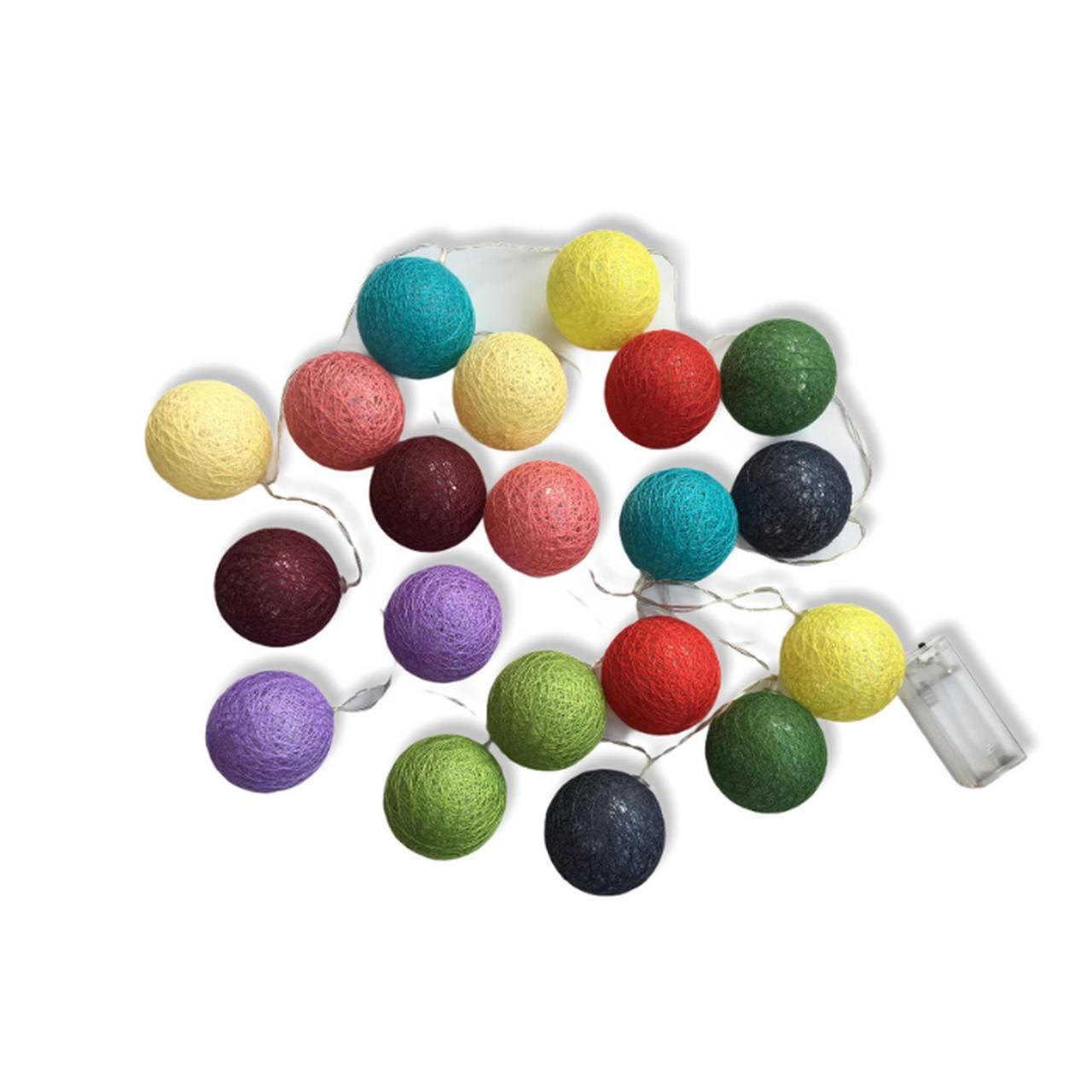 Cordão de Luz bolas para decoração Tropical 2.20m - 20 bolas