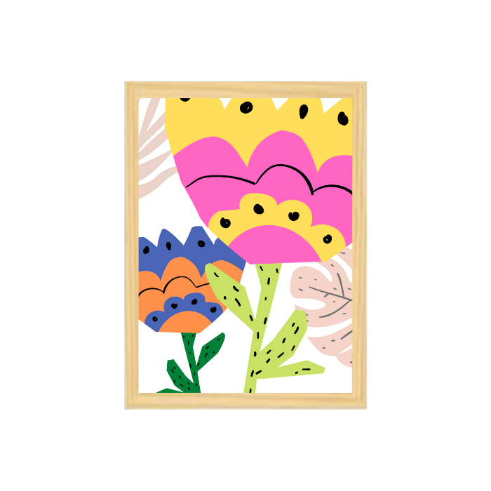 Poster colorido quarto infantil  A4 Garden
