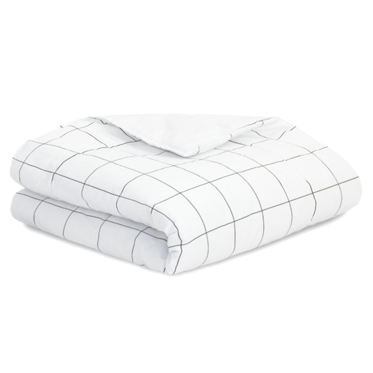 Edredom infantil mini cama 100% algodão Grid