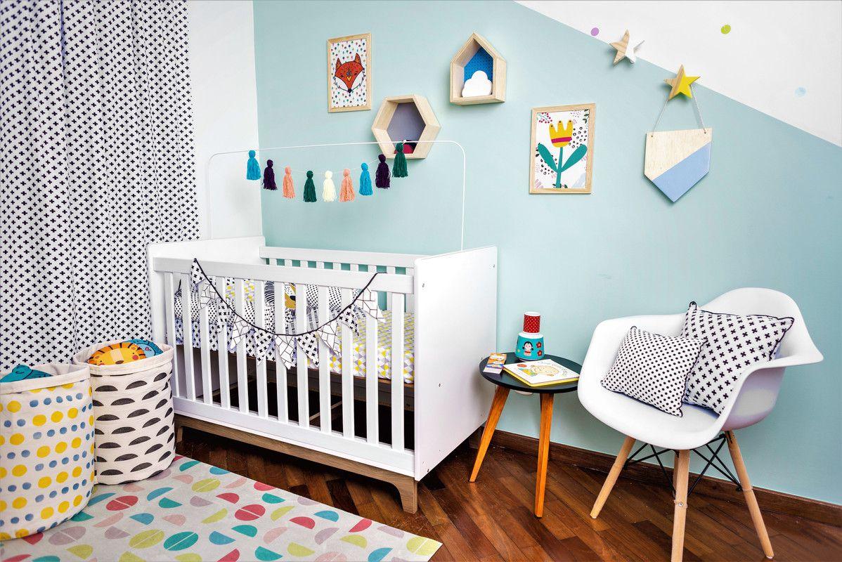 Flâmula de madeira decoração 25 x 20 cm cor azul  - Pomelo Decor