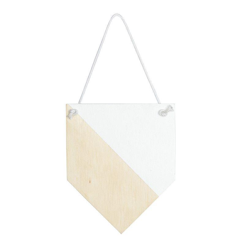 Flâmula de madeira decoração 25 x 20 cm cor branca
