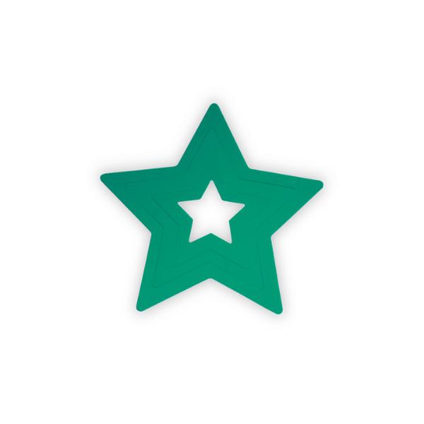 Aplique de parede infantil estrela verde