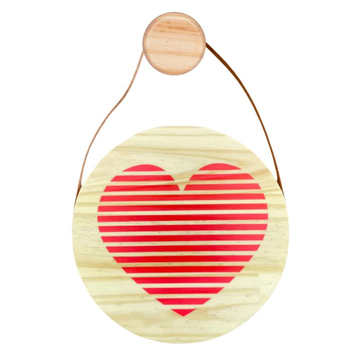 Flâmula decoração infantil 20 x 20 cm Coração