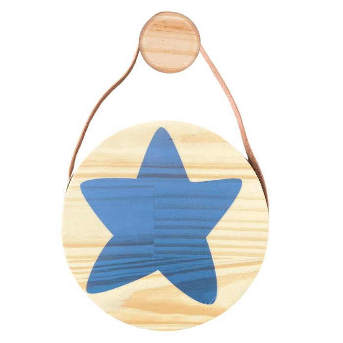 Flâmula decoração infantil 20 x 20 cm Estrela azul