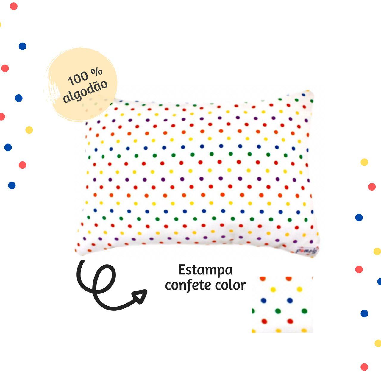 Fronha avulsa berço tamanho 30 x 40 cm Confete Color