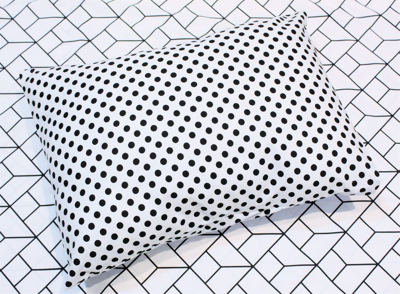 Fronha avulsa berço tamanho 30 x 40 cm Confete Black