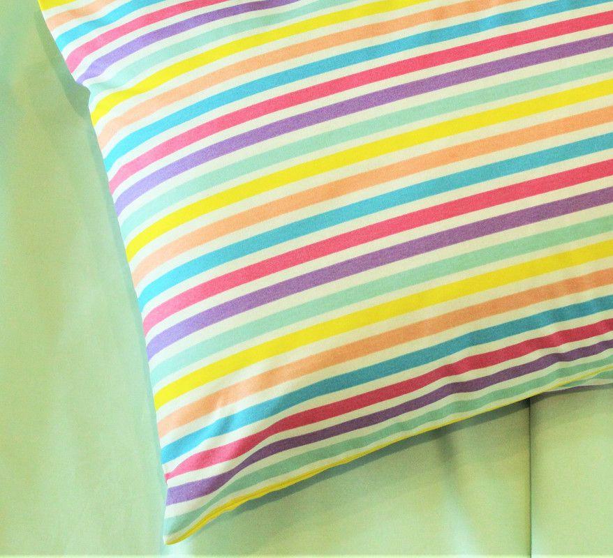 Fronha avulsa berço tamanho 30 x 40 cm Listrado Candy  - Pomelo Decor