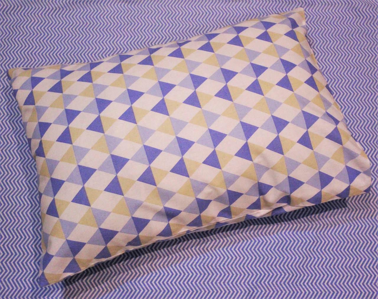 Fronha avulsa berço tamanho 30 x 40 cm Losango Azul  - Pomelo Decor