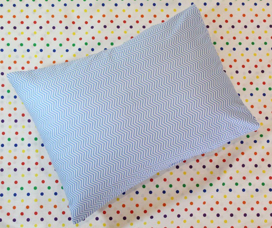 Fronha  tamanho 50 x 70 cm Azul Chevron  - Pomelo Decor