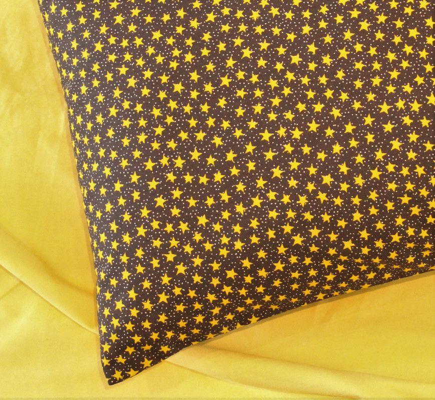 Fronha tamanho 50 x 70 cm Céu Dourado