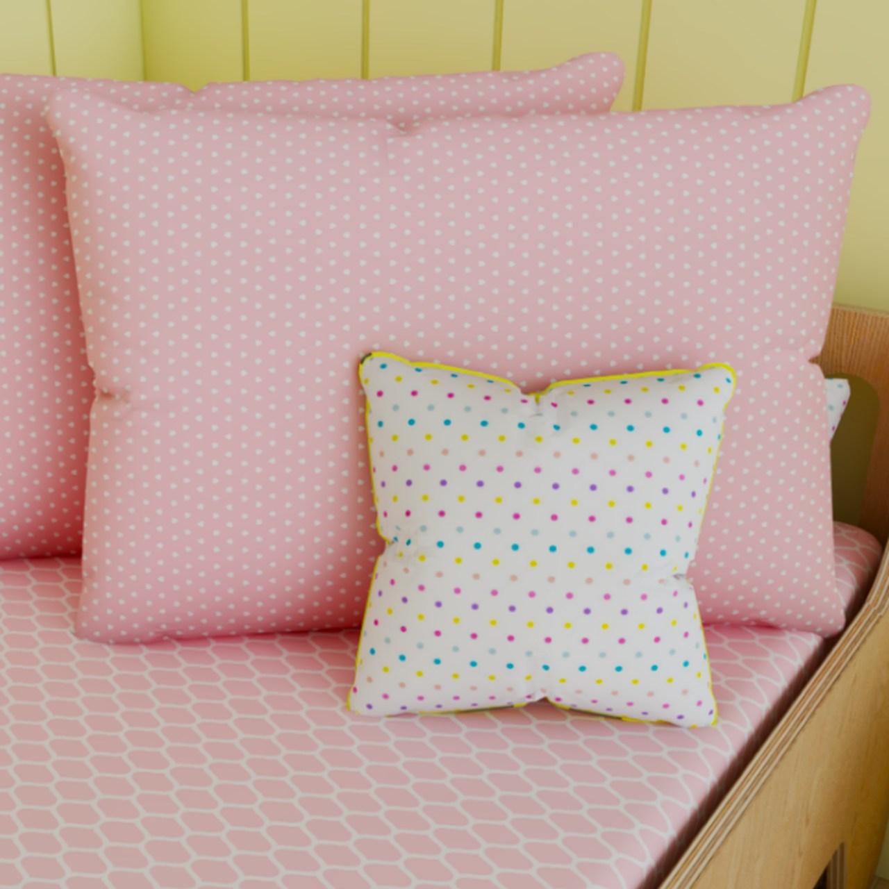 Fronha tamanho 50 x 70 cm Coração rosa
