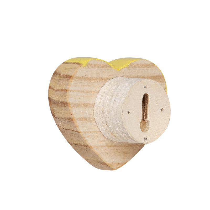 Gancho de parede cabideiro 10 x 7 x 10 cm coração cor amarelo