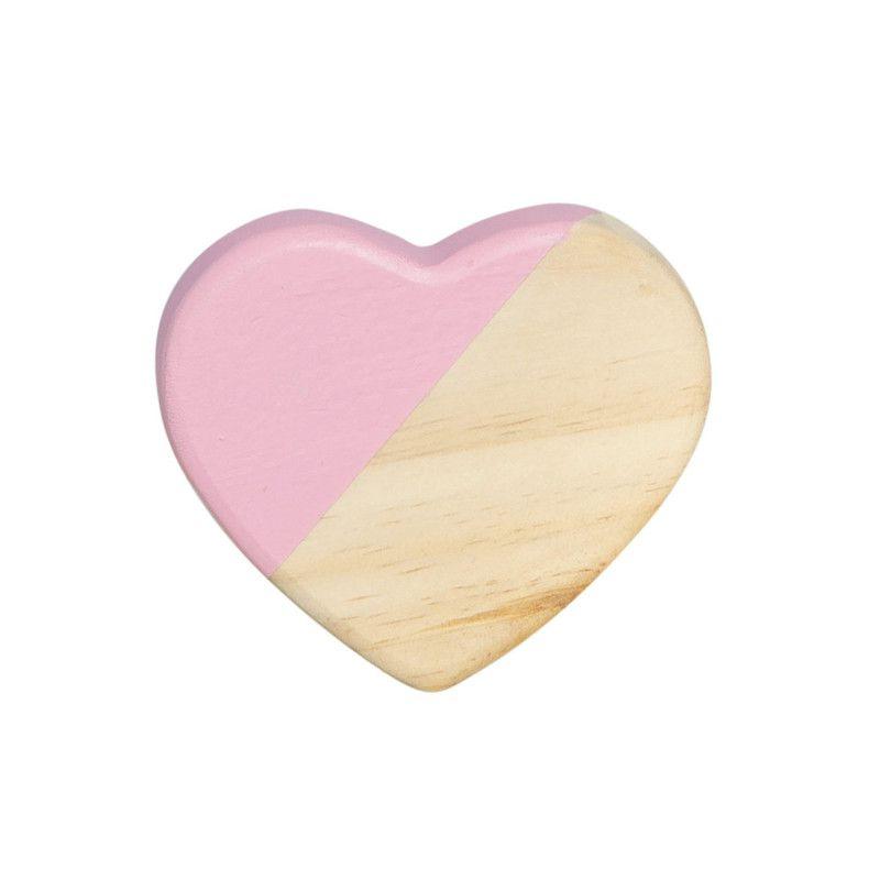 Gancho de parede cabideiro 10 x 7 x 10 cm coração cor rosa tutti