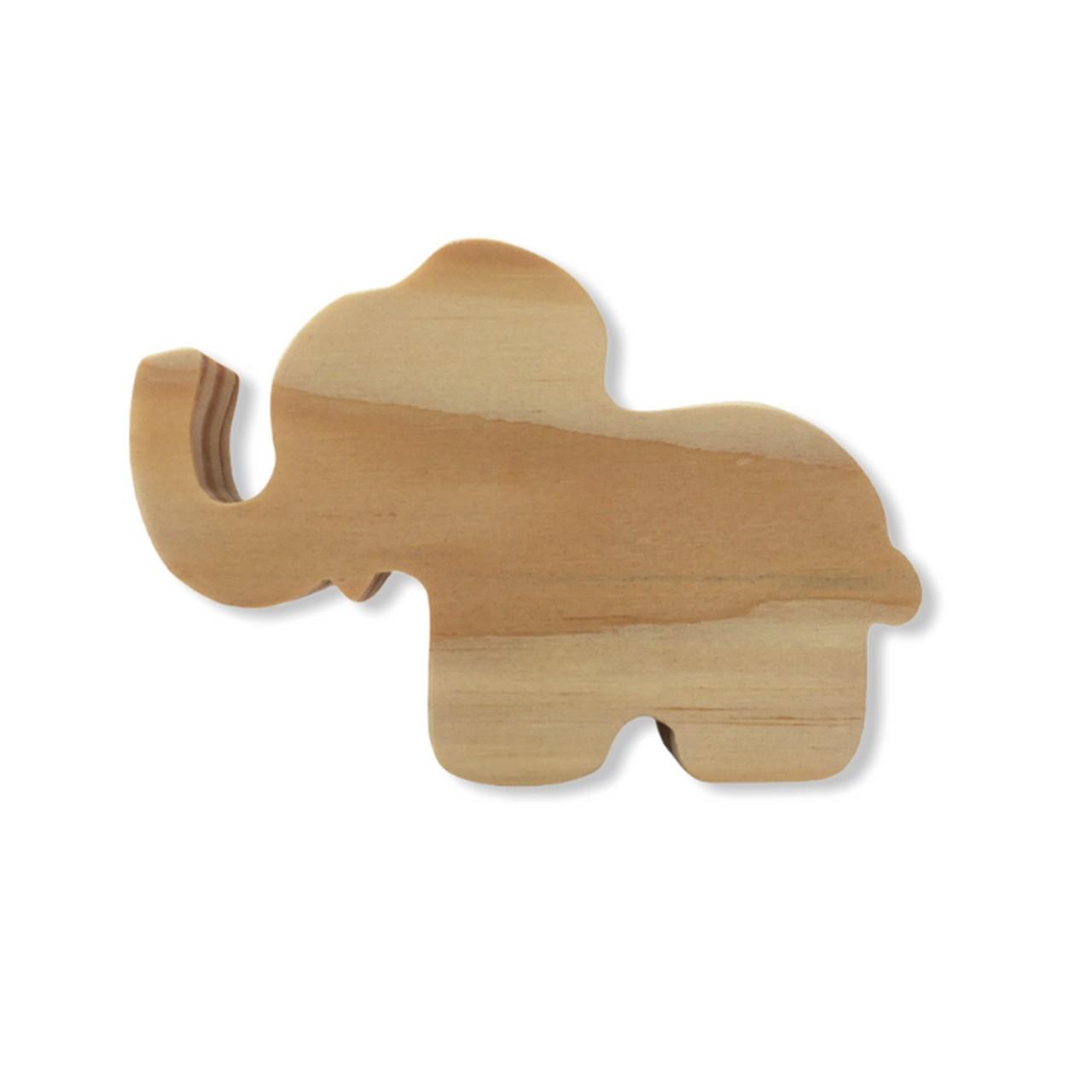 Gancho de parede cabideiro Elefante pinus natural