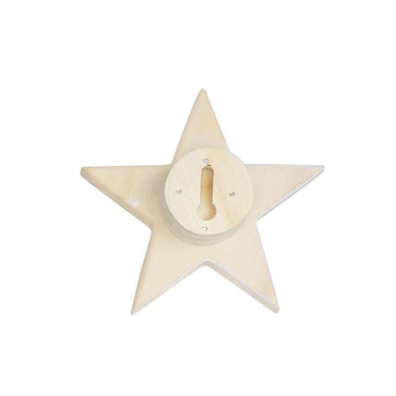 Gancho de parede cabideiro estrela 10 x 7 x 10 cm cor branco