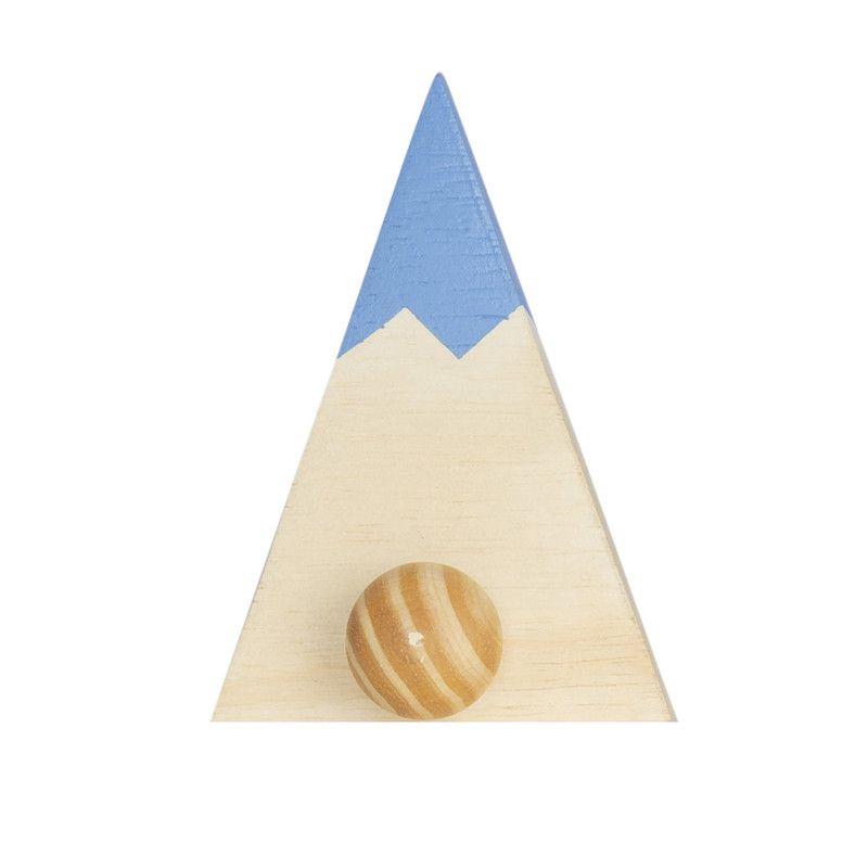 Gancho de parede cabideiro montanha 16 x 5 x 11 cm cor azul  - Pomelo Decor